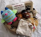 PUPPY COMFORT BLANKET BED AND TOY SET CUTE COLOURS